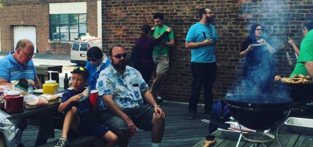 July 3, 2016 – Fubar Labs held it's annual Fourth of July weekend cookout. The weather was perfect, and many people brought all sorts of food for the grill, along with side fixings, drinks, etc.